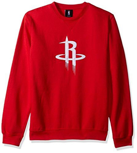 "NBA Houston Rockets Youth Boys ""Prime"" Pullover Fleece Crew, Small(8), Red"
