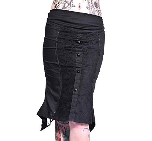 Jawbreaker Rock Black Roses Falda 7501Black negro
