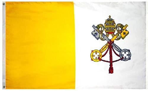 Vatican City Flag - Vatican City/Papal Flag Nylon 5 ft. x 8 ft.