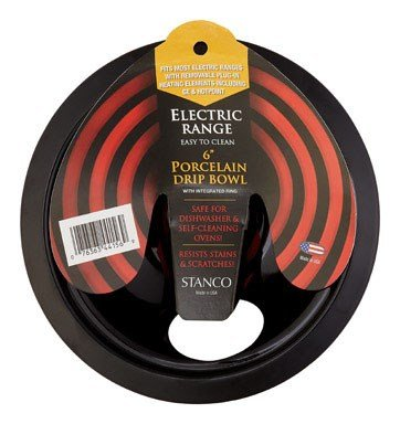 (Stanco Electric Range Drip Pan Black Porcelain On Steel, Chrome 6 In.)