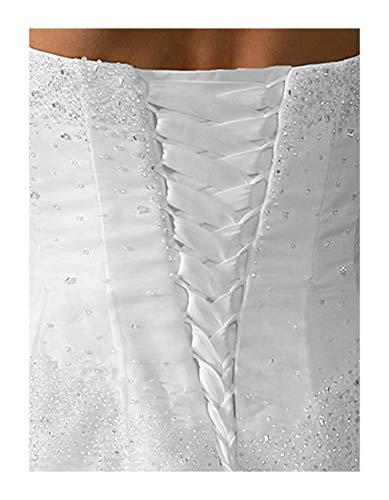 Wedding Gown Zipper Replacement Adjust Size Corset Lace Up White 16