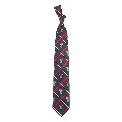 Eagles Wings EAG-7736 Texas Tech Red Raiders NCAA Silver Line Woven Silk Mens Tie by Eagles Wings