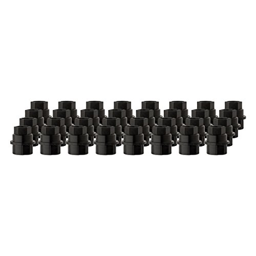 DPAccessories CC-4D-P-OBK05032 32 New Black Plastic Wheel Lug Nut Caps - Replaces GM 15646250 / Dorman 99956 Wheel Lug Nut - New Black Wheel