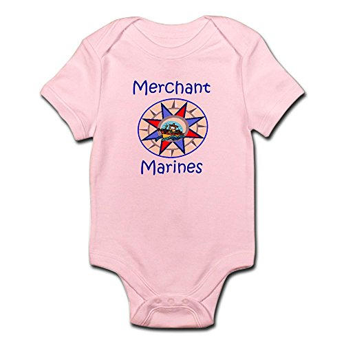 CafePress Merchant Marine - Cute Infant Bodysuit Baby Romper -