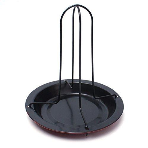Carbon Steel DIY BBQ Vertical Chicken Duck Grill Baking Roaster Rack Non-stick