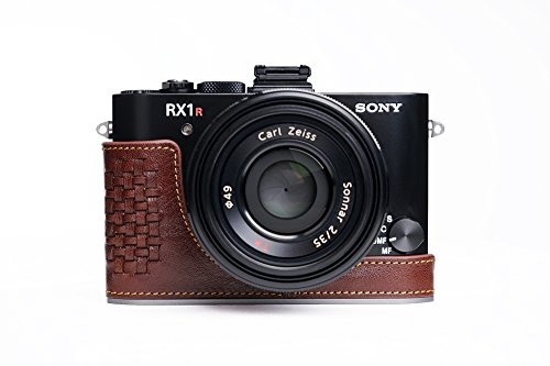Sony RX1RII Case, BolinUS Handmade Genuine real Leather Half Camera Case Bag Cover for Sony RX1RII RX1R2 RX1R II Bottom Opening Version -Coffee