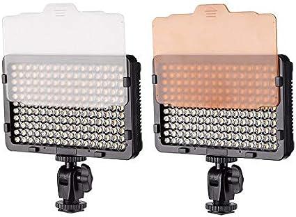 AUCD LED Video Light 36W 3300K-5600K Dimmable Camera LED Light Panel with Standard Hot Shoe for Digital SLR Cameras HS-600MB