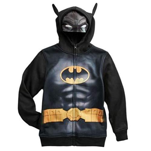 Batman DC Comics Zip-Up Sweatshirt Costume Hoodie w/Mask Boys/Youth Medium (10-12) Black