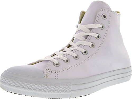 All Leather Chuck Converse Taylor Hi Star White White Men's q7fnzg1