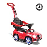 Alison Mercedes-Bens GL63 AMG Electric Kids Ride on car Four-in-one Baby Push car (red)