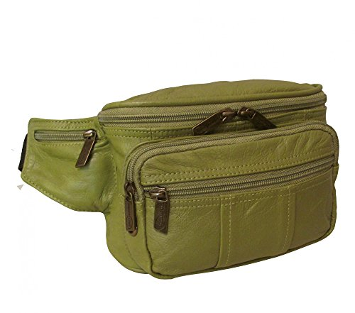 AmeriLeather Easy Traveller Fanny Pack (Lime) by Amerileather (Image #3)'