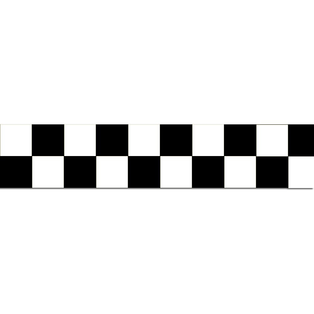 2-Inch X 54-Feet INCOM Manufacturing Group LCB212 Checkerboard Laminated Tape Black//White