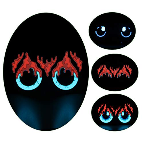 Music Sound Activated Eyes Mask, Halloween Party Light