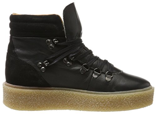 10 Black Bianco Militares Negro para Plattform Boots Botas Warme Mujer BBxqzC4