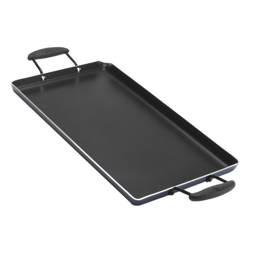 Vasconia Double Burner Aluminum 10-Inch X 18-Inch Non-Stick Griddle, Black