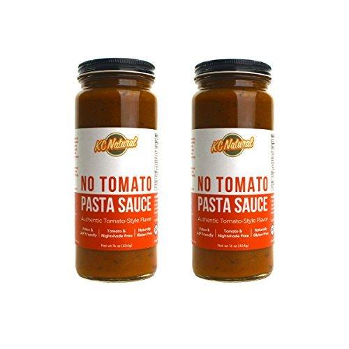 KC Natural - No Tomato Paleo AIP Pasta Sauce 16 oz, (2 - Spaghetti Tomato Sauce No