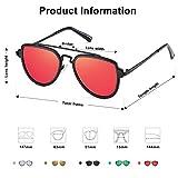 SOJOS Fashion Polarized Aviator Sunglasses for Men