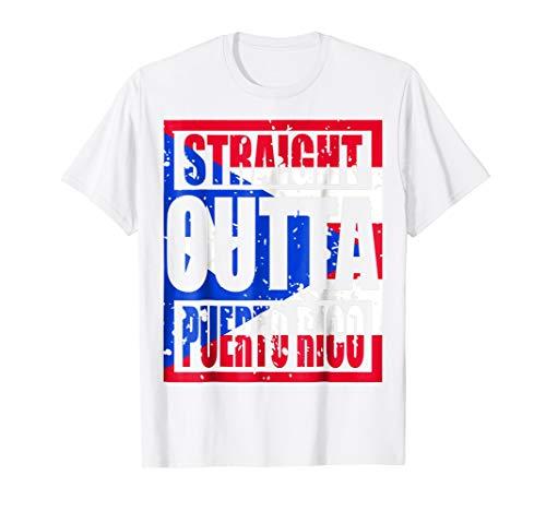 Straight Outta Puerto Rico TShirt Funny (Top Hat Puerto Rico)