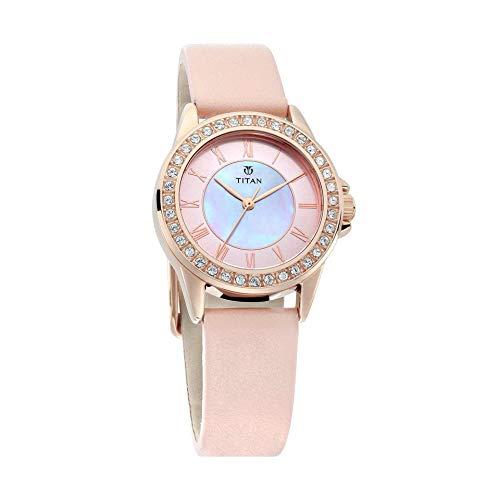 Titan Sparkle Pink Dial Analog Watch for Women - 9798WL01 ()