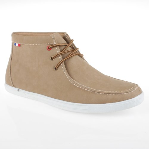 Arider Billy-01 Mens Faux Leather High-Top Casual Shoes Beige XsGGCe1V