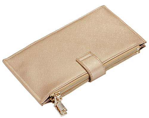 Travelambo Womens Walllet RFID Blocking Bifold Multi Card Case Wallet with Zipper Pocket 5