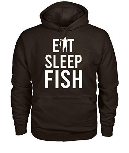 TheOceanPub Designs Fishing Shirt for Men Women - Eat Sleep Fish Fishing Fan Hoodie L