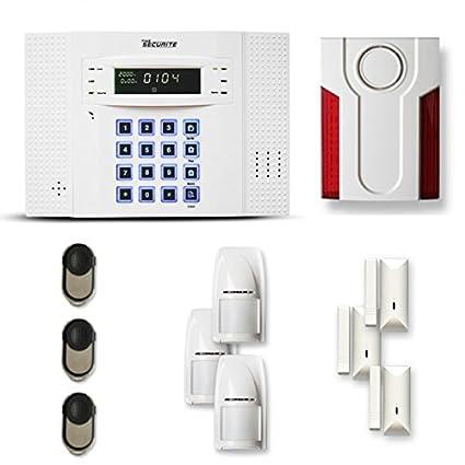 Tike Securite DNB - Alarma inalámbrica (3 a 4 piezas, sensor de movimiento,