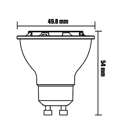 (10-Pack, Warm White) Sunthin 6.5W GU10 Led Bulb, Dimmable, 60w Equivalent, Recessed Lighting, GU10 LED, LED spotlight, 500lm, 38° by SUNTHIN (Image #4)