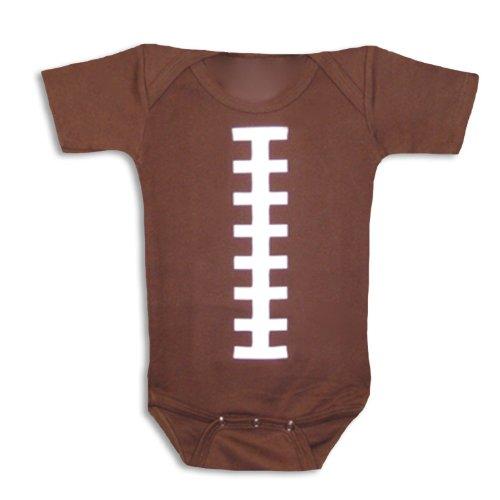 Bambino Balls Short Sleeve Football Outfit. Medium. Brown and White.