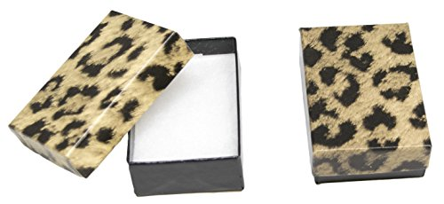 Novel Box MADE IN USA Jewelry Gift Box in Leopard Print With Removable Cotton Pad 2.5X1.8X1