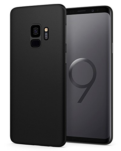 Spigen Air Skin Galaxy S9 Case with Minimal Thin and Slim Form Fitted Lightweight Cover for Samsung Galaxy S9 (2018) - Black