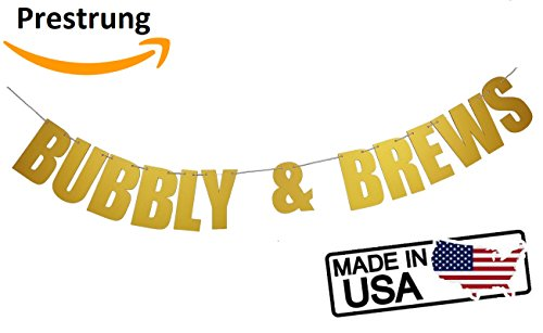 Bubbly & Brews Hanging Letters Party Banner Sign