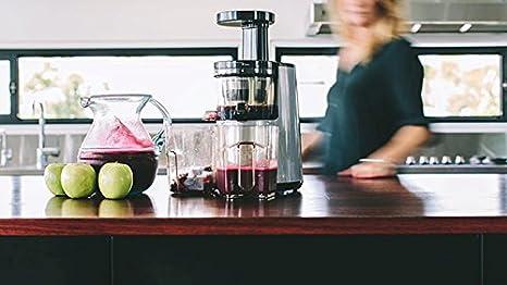 BioChef Atlas – Extractor de zumos COLD PRESS, Slow Juicer, licuadora en frío. 150W y 65 RPM. Garantía DE POR VIDA en el motor. (Amaranto): Amazon.es: Hogar