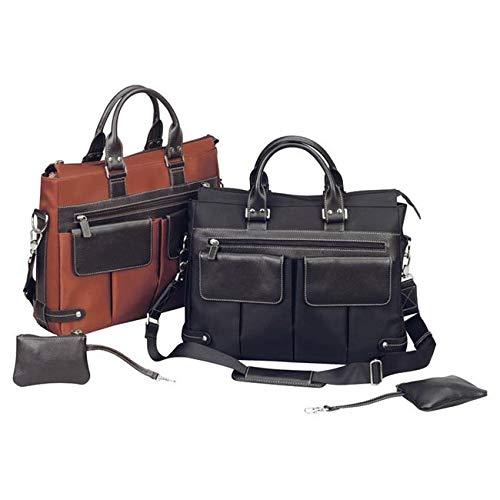 BELLINO The Euro Ladies Laptop Tote, Rust Bellino Flap Over Briefcase