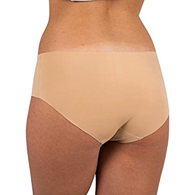 Sexy Basics Women's 6 Pack Laser Cut Seamless Invisible No Show Hipster Panty