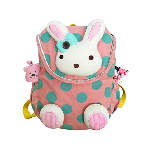 【+BONUS!】Labebe Toddler Backpack with Harness, Pink Backpack with Bunny for Kid of 1-3 Years, Anti-Lost Backpack with Anti-Lost Leash/Toddler Girl Backpack/Snack Bag Kid/Harness Backpack/Baby Girl