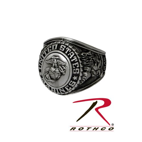 Rothco US Marine Corps Insignia Ring, Silver, 10 Size