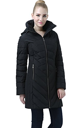 (BGSD Women's Eva Hooded Waterproof Down Coat - M)