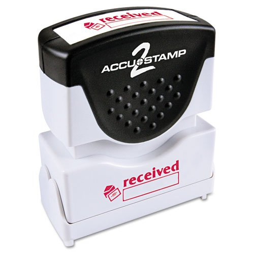 (ACCUSTAMP2 035570 Pre-Inked Shutter Stamp with Microban, Red, Received, 1 5/8 x 1/2)