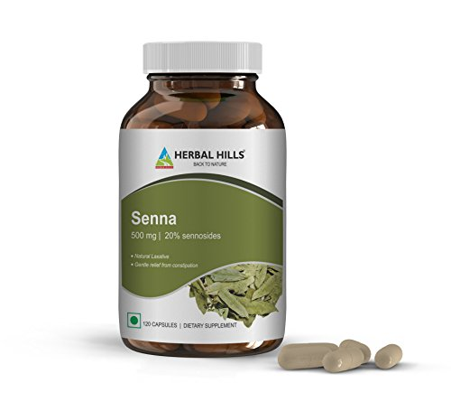 Senna (500 mg) Natural Vegetable Laxative, relieves occasional constipation, aids colon cleansing, maintains regular bowel movements, maintains healthy digestive system Regular Bowel Movements