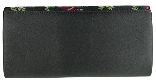 Girly Handbags - Cartera de mano de Material Sintético para mujer negro