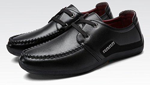 HYLM Primavera Y Otoño Nuevos Zapatos De Negocios De Encaje De Color Sólido Zapatos Deportivos Black