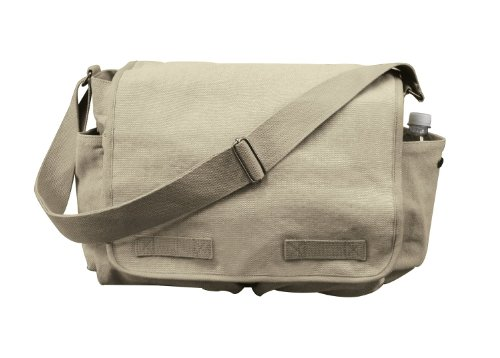 Rothco Hw Canvas Classic Messenger Bag - Khaki