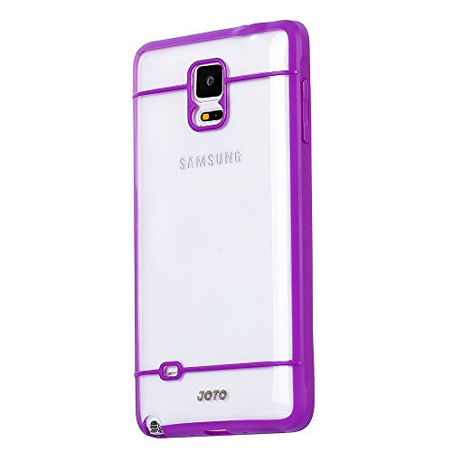 ase - Slim Fit Hybrid Bumper Cover Case (Flexible TPU + Hard PC) Exclusive for Samsung Galaxy Note 4 Smartphone, SM-N910 (Clear, Frosty, Purple) ()