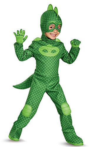 The Mask Costume (Gekko Deluxe Toddler PJ Masks Costume, Large/4-6)