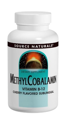Source Naturals, MethylCobalamin, Cherry Flavored , 1 Milligram, 120 Lozenges. Pack of 2 Bottles
