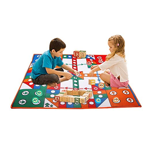 Flying Chess Carpet Aeroplane Chess Rug Simple Parent-Child Game]()