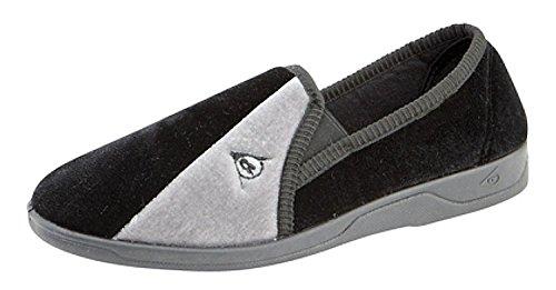 Dunlop - Zapatillas de estar por casa para hombre negro