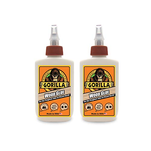 Gorilla Wood Glue, 4 ounce Bottle, (2 Pack)