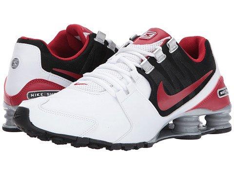 (ナイキ) NIKE メンズランニングシューズスニーカー靴 Shox Avenue Leather White/Gym Red/Black/Metallic Silver 9.5 27.5cm D - Medium [並行輸入品] B0752DT7N9